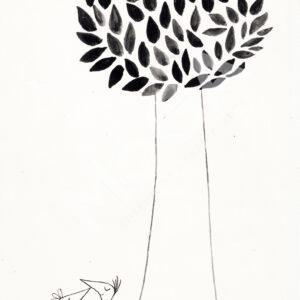 Stor Fågelpar träd