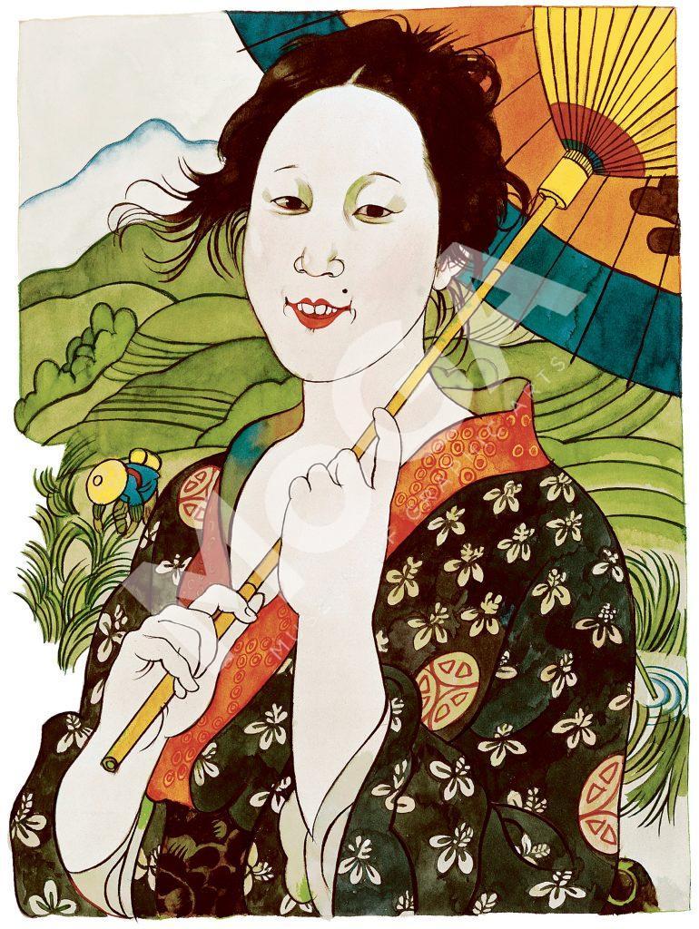 Novellen Hans japanska älskarinna