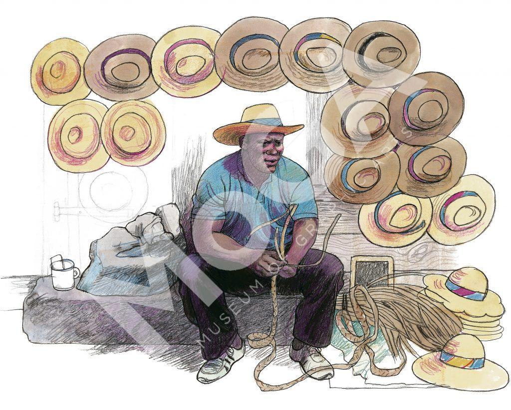 Man med hattar, Antigua