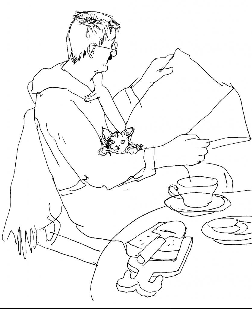 Stig och Sigrid till frukost