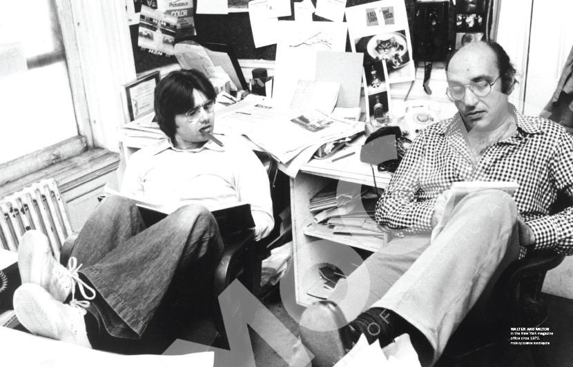 Walter Bernard & Milton Glaser at the editorial office of New York Magazine 1973.