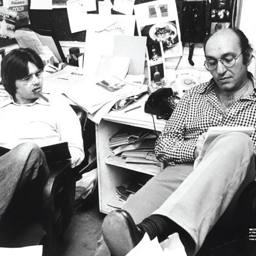 Walter and Milton at the office of New York Magazine 1972 Photo: Cosmos Sarchiapone