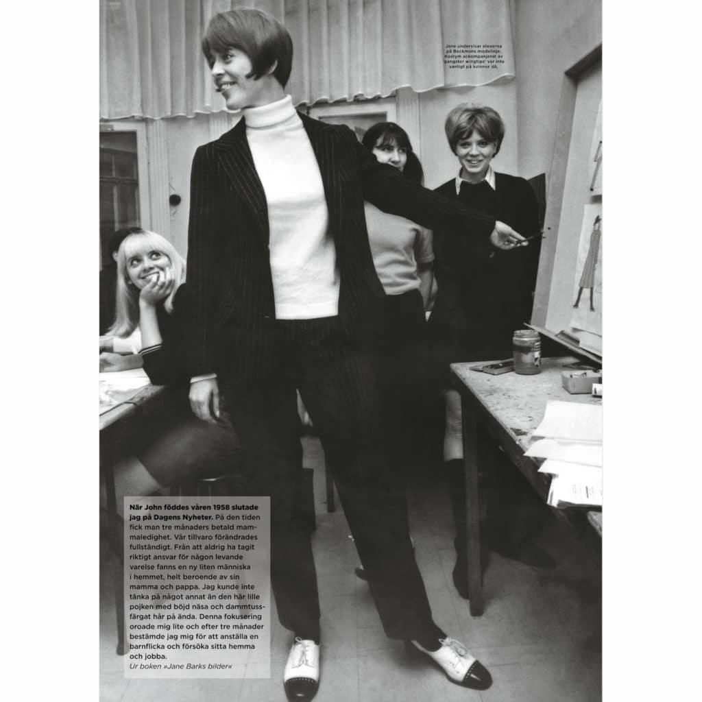 1960-talet var en nyskapande tid. Här undervisar jag modeklassen på Beckmans.