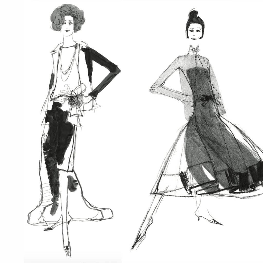 Modereportage från Paris tidigt 1960-tal. Modellerna gav mig tillräckligt med tid för snabba skisser