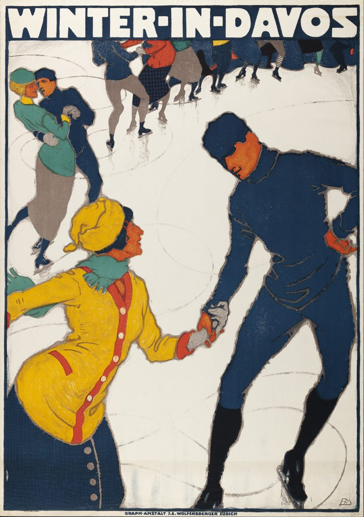 Winter in Davos, 1914 Burkhard Mangold.