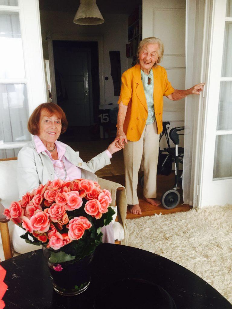 Jane som nu fyller 89 tillsammans med Ruthel Eksell, 99.