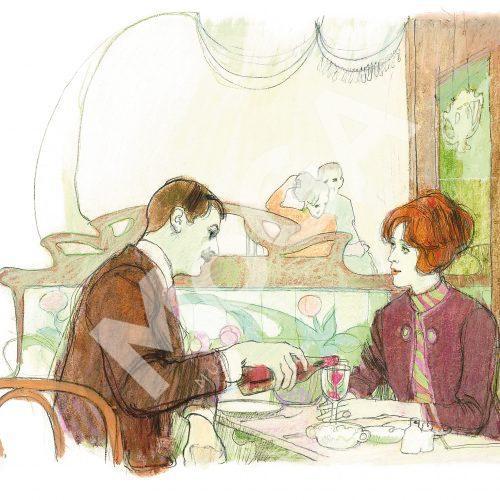 Jane och Stig på Restaurang Scandia, tidigt 60-tal.
