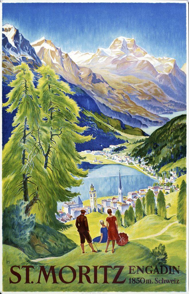 St. Moritz, Engadin 1930, Carl Moos.
