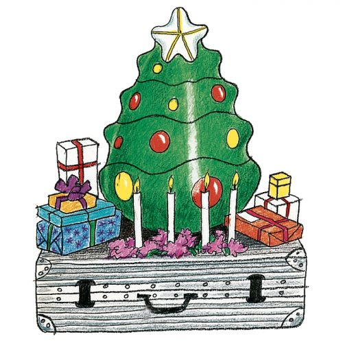 En uppblåsbar jul i Västindien