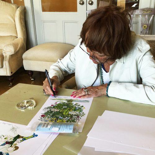 Jane signerar verk