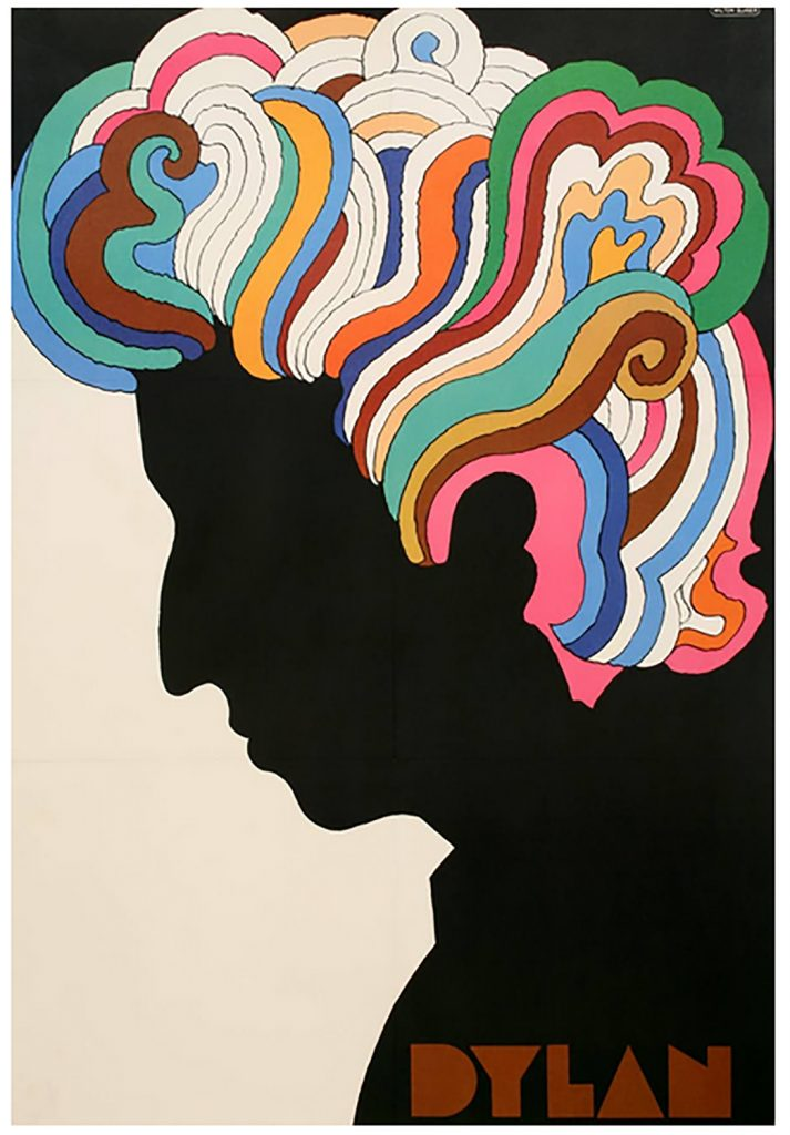Glasers kända poster föreställande Bob Dylan