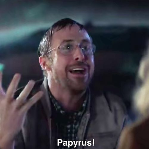 Ryan Gosling goes bananas over typeface Papyrus!