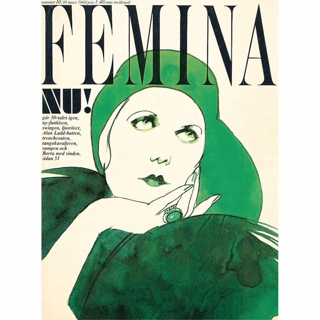 Omslag till tidningen Femina 1968