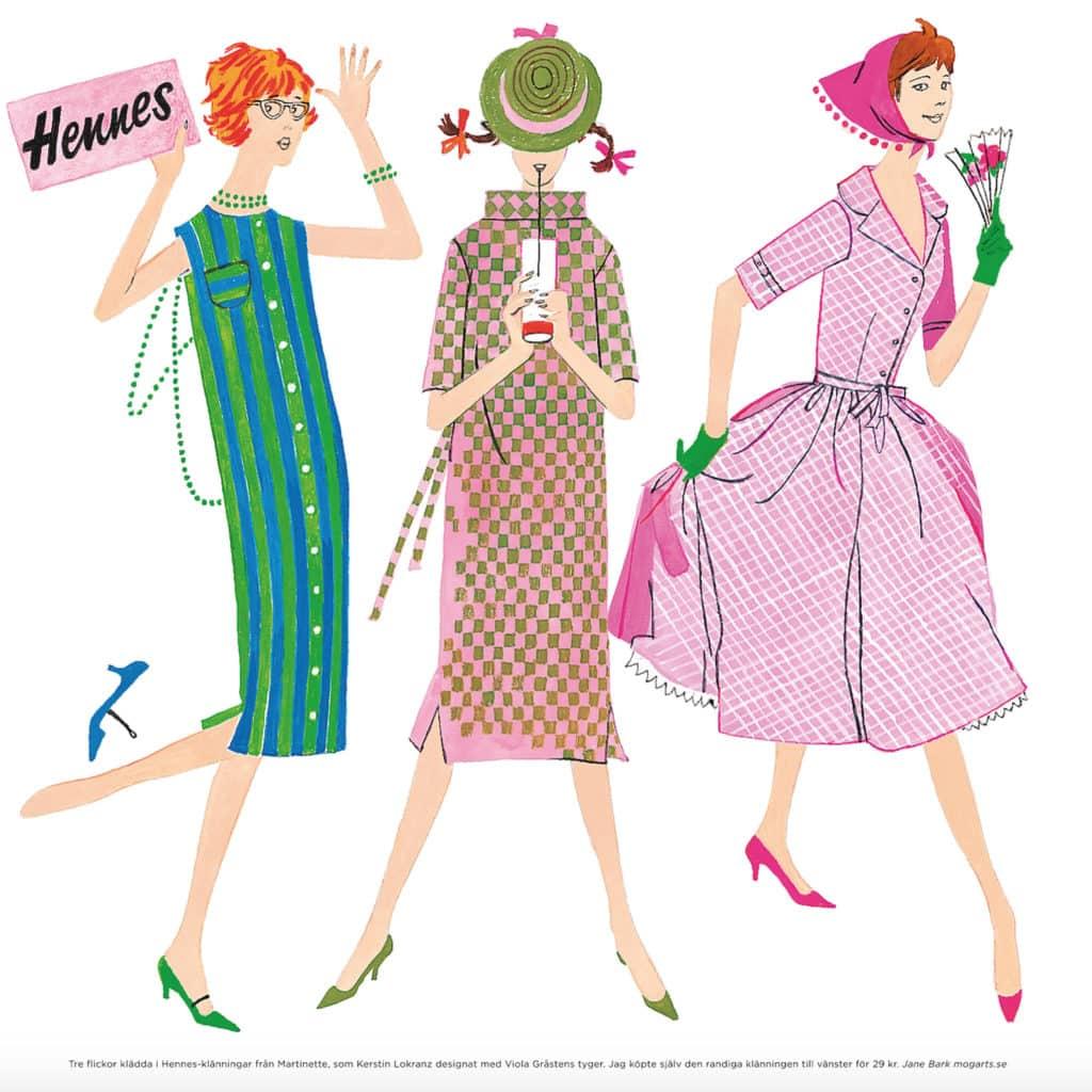 Klänningar från Martinett av Kerstin Lokranz, tyger av Viola Gråsten