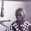 GG vid vävstolen 1964 på Konstfack